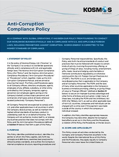 Anti-Corruption  Compliance Policy