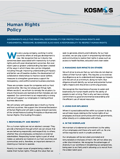 Human Rights Policy